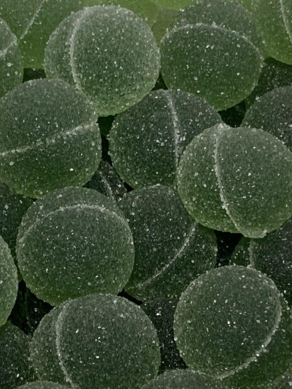 Vihreät Kuulat - vihreä marmeladimakeinen joulukarkki - Karkkikuja