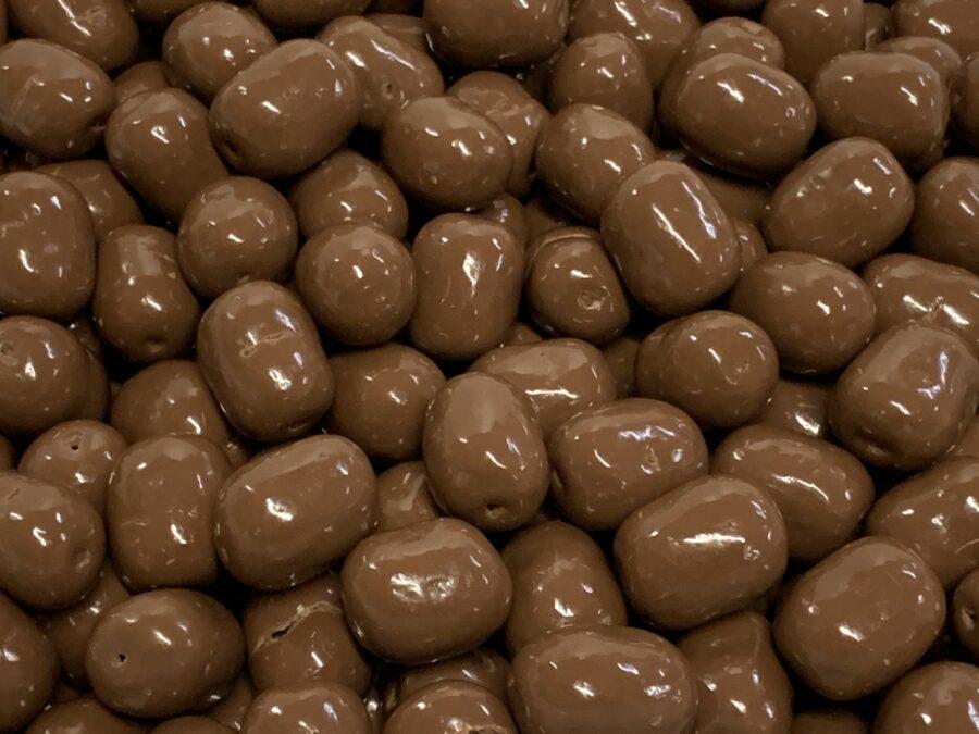 Suklaalakritsi - maitosuklaa kuorrutettu lakukarkki - Karkkikuja