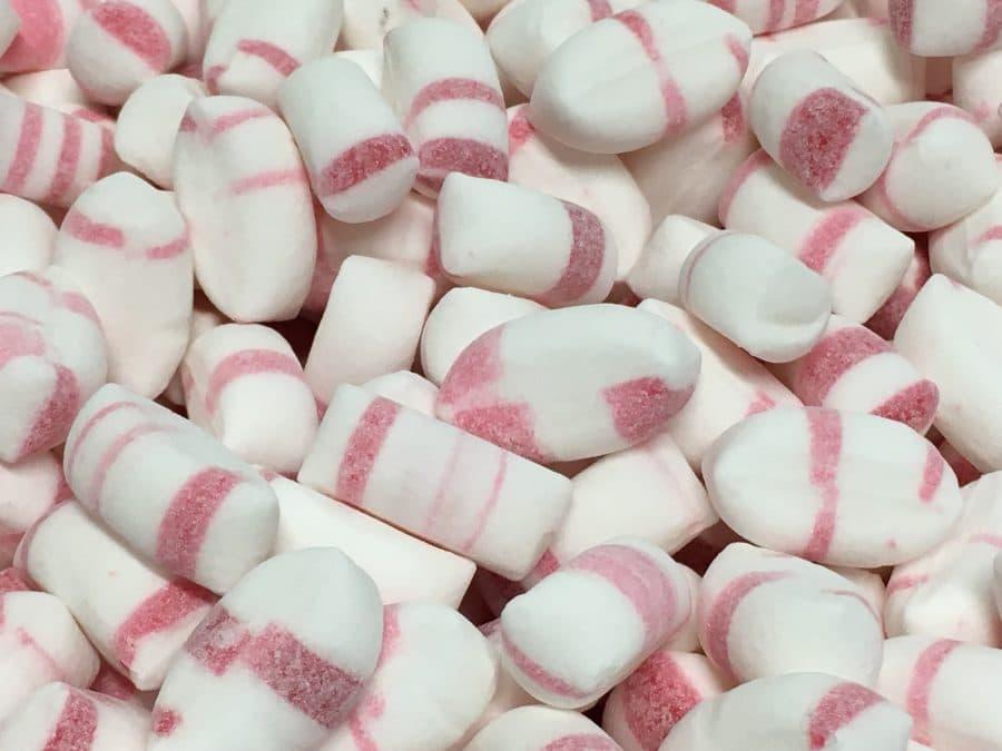 Polkatyyny - perinteinen raidallinen kova makeinen -Karkkikuja