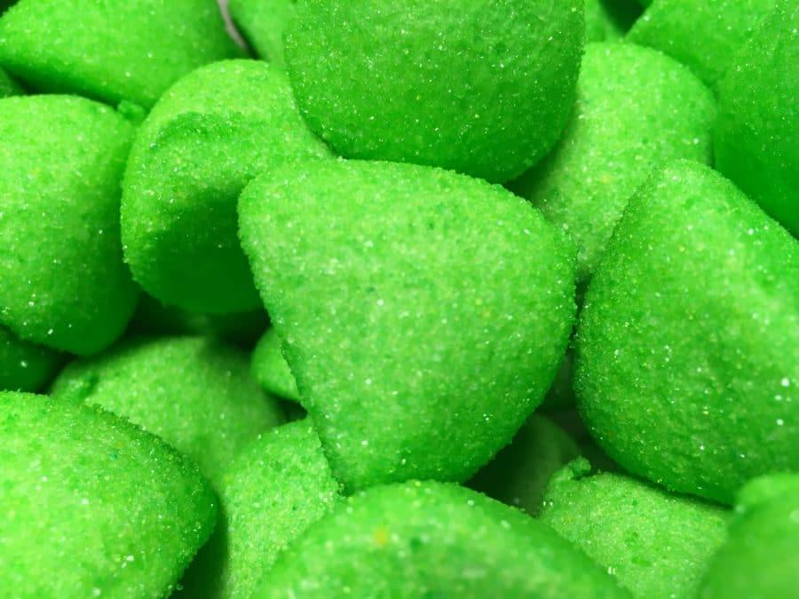 Omenagolfpallo - Vihreä sokeroitu pehmeää vaahtokarkki - Karkkikuja