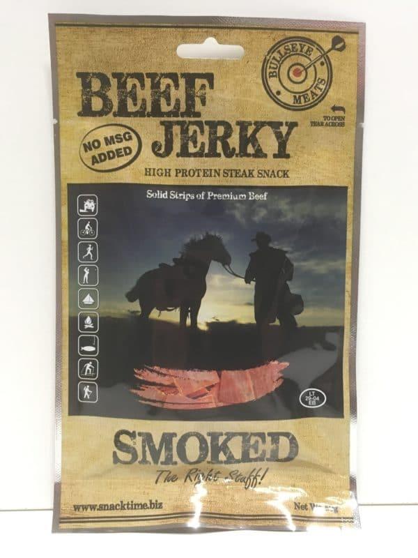 Beef jerky smoked savustettua naudan kuivalihaa - Karkkikuja