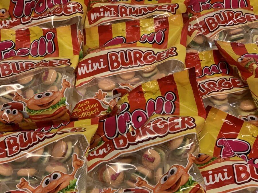 Trolli Mini burger - yksittäispakattu karkkihamppari - Karkkikuja