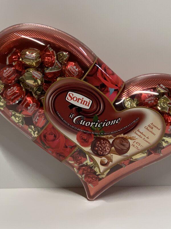 Suklaasydän konvehtirasia - iso sydänkuvio yksittäispakattu suklaakonvehti ystävänpäiväkarkki valentine - Karkkikuja