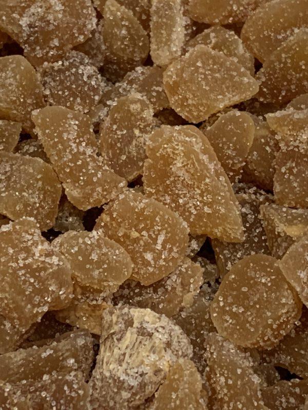 Sokeroitu inkivääripala kuivattu inkivääri - Karkkikuja